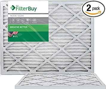 24 Nom Height x 24 Nom Width x 1 Nom Depth Synthetic Wire-Backed Pleated Air Filter Made in USA 6 Pack
