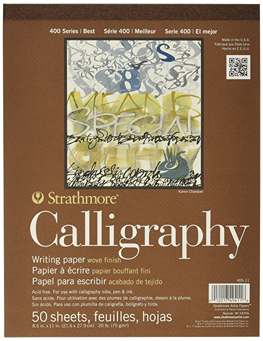 Amazon.com: Strathmore STR-405-11 50 Sheet Tape Bound Calligraphy ...