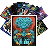 Postcard Set 24pcs Aliens and Sexy Girls Scifi Vintage Trash Horros Movie Posters