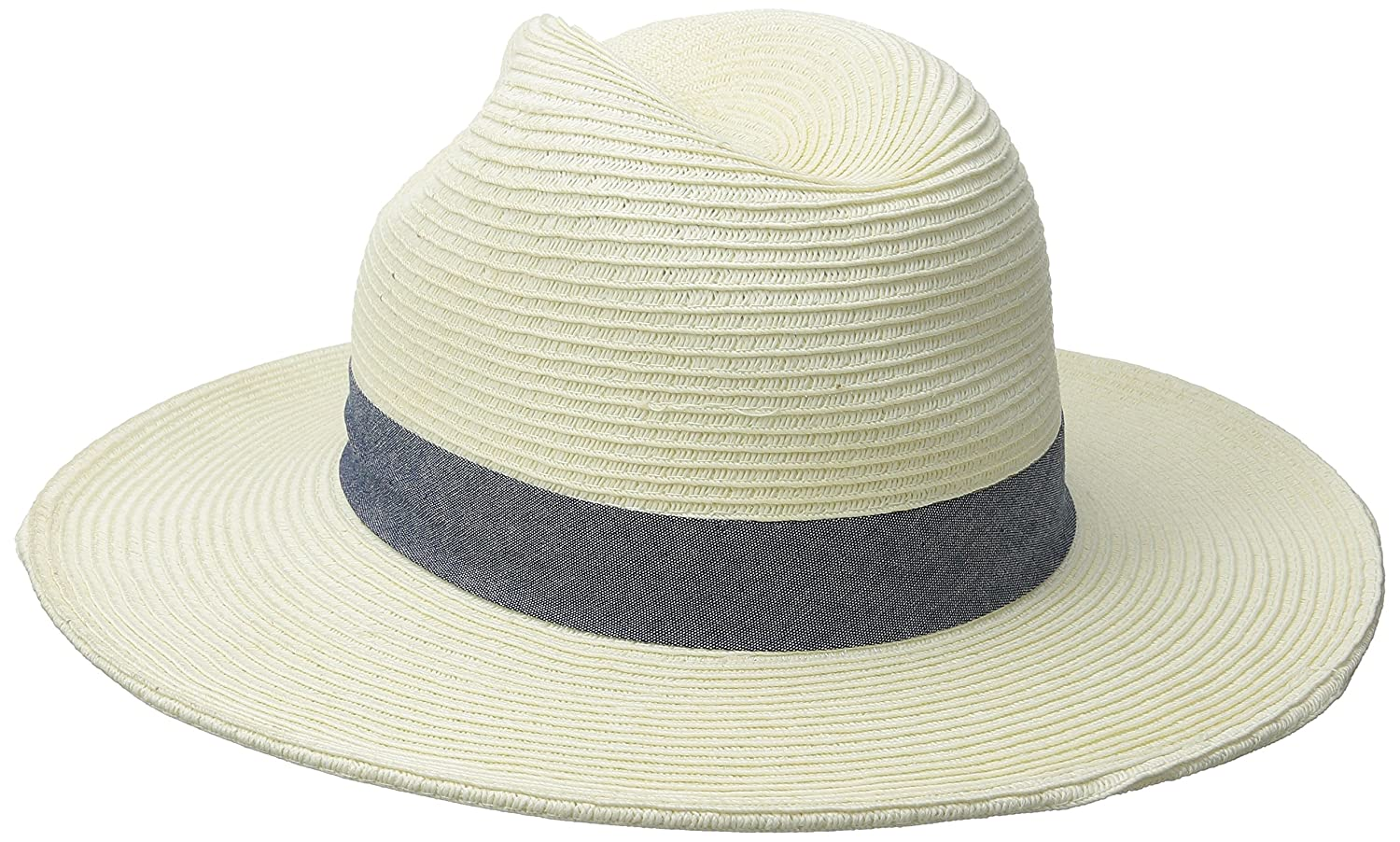 b08080c902a San Diego Hat Company Women s Panama Hat with Chambray Band