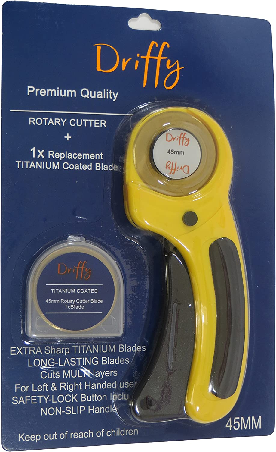 Rotary Cutter with Titanium Blade Spare - by Driffy - 45mm