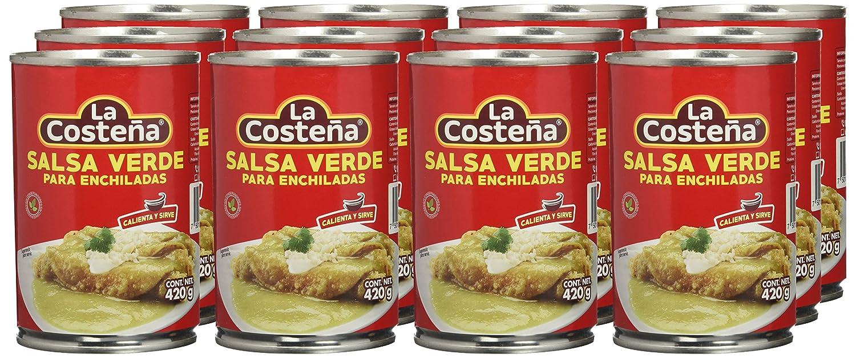 La Costeña Salsa Para Enchiladas Verdes - Paquete de 12 x 420 gr - Total: 5040 gr: Amazon.es: Alimentación y bebidas