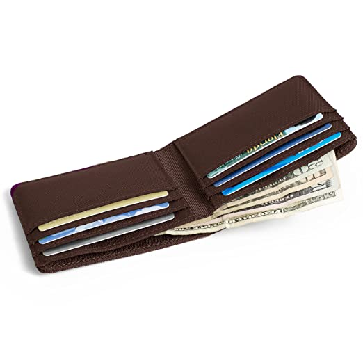 768455dc5065 RFID Wallet Bifold 6 Slot - RFID Nylon Wallets - Protective Wallets for Men  - Stops Electronic Pickpocketing