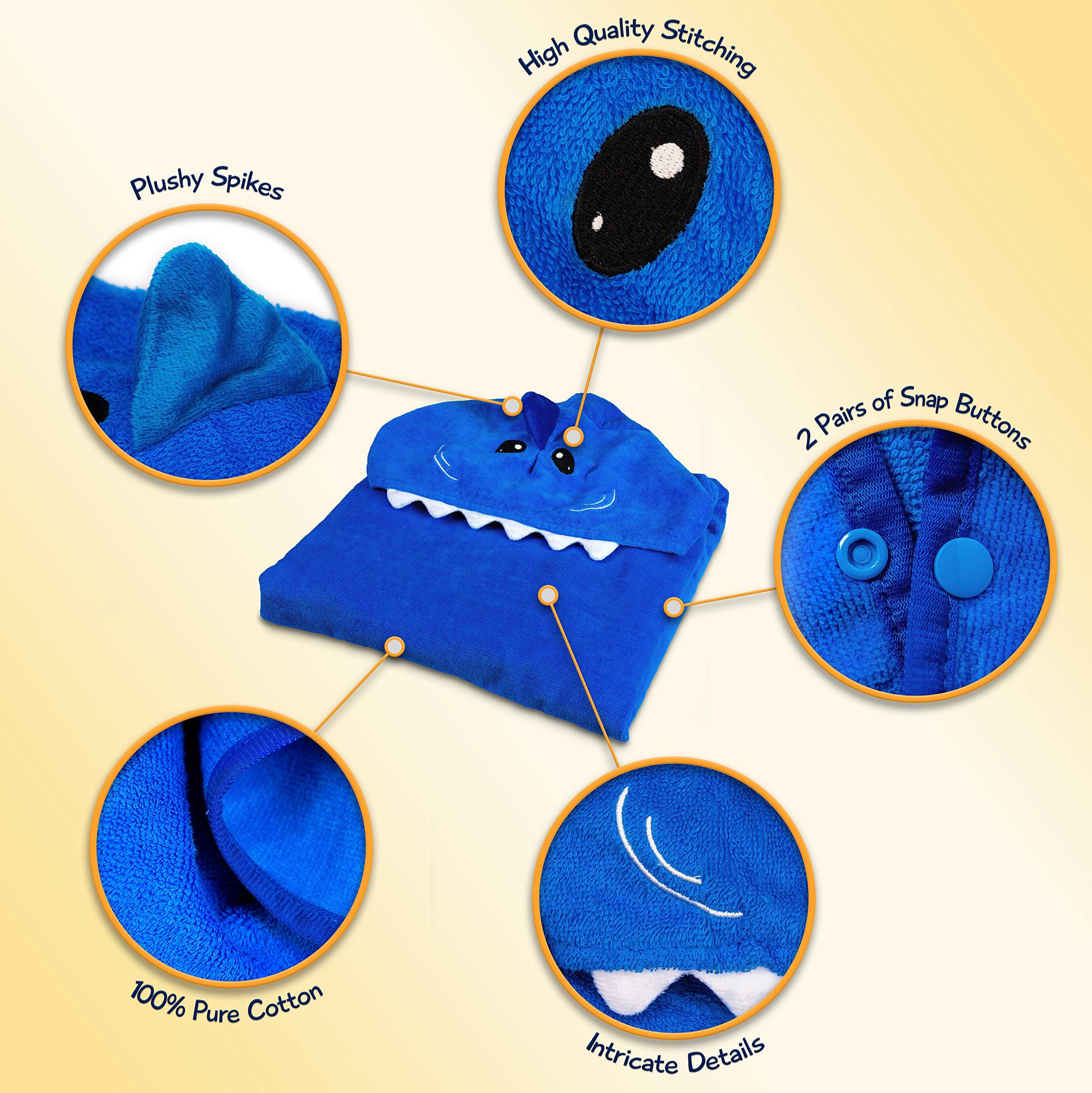 Hudz Kidz Hooded Towel for Kids & Toddlers, Ideal at Bath, Beach, Pool by Hudz Kidz (Image #3)