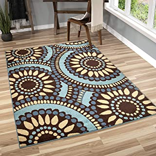 "product image for Orian Rugs Veranda Indoor/Outdoor Merrifield Collage Area Rug, 7'8"" x 10'10"", Blue"