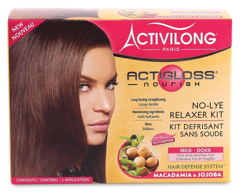 Activilong actigloss Nourish, Kit lisciante senza cloro-alcali, con Macadamia e Jojoba, addolcente e ammorbidente