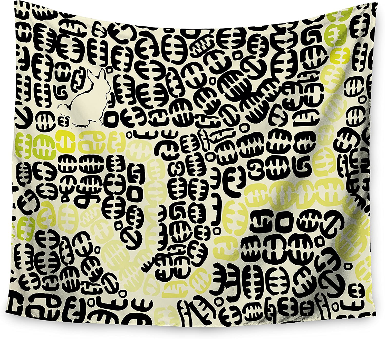 Kess InHouse Theresa Giolzetti Blueberry Blue White Wall Tapestry 51 X 60