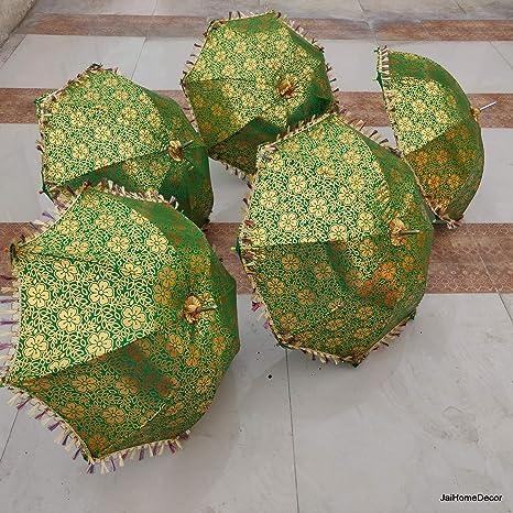 50 Pcs Mix Indian Umbrella Home Decor Gift Umbrella Home Decor Wedding Umbrella parasol Party Decor Vintage indian Umbrella Parasol Decor