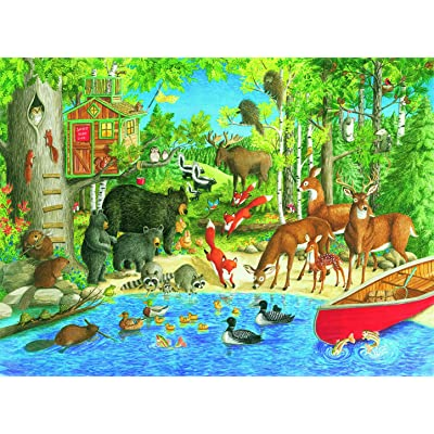 Ravensburger Woodland Friends 200 Piece Jigsaw Puzzle for Kids – Every Piece is Unique, Pieces Fit Together Perfectly: Toys & Games [5Bkhe1001870]