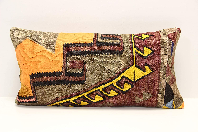 Turkish Kilim Pillow Turkey Pillow 12x24 Kilim Pillow Cotton Accent Pillow Handmade Kilim Pillow Bohemian Kilim Pillow Throw Pillow