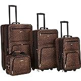Rockland Jungle Softside Upright Luggage Set,...