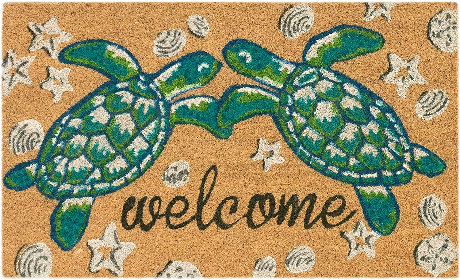 "Liora Manne NTR12205912 Natura Area Rug, 1'6"" x 2'6"", Sea Turtle Welcome"