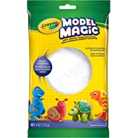Crayola Model Magic, White, 4 Ounce No-Mess, Soft, Squishy, Lightweight Modeling Material For Kids, Easy to Paint and Decorate, Air Dries Smooth