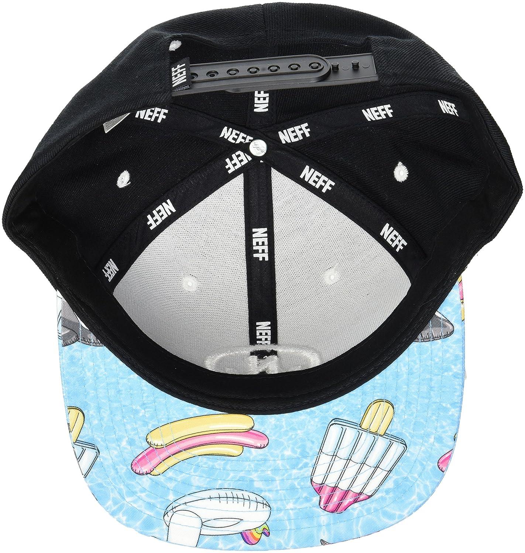 972b4f9fb42b Amazon.com: NEFF Men's Daily Smile Pattern Snapback Hats-Custom Adjustable,  Black/Pool Party, One Size: Clothing