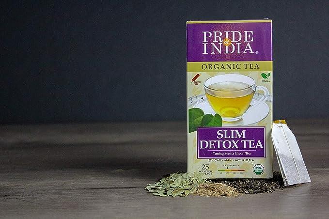 PRIDE OF INDIA Organic Slim & Detox Weight Loss Tea, 25 Tea Bags