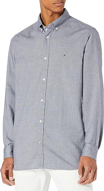 Tommy Hilfiger Slim Mini Houndstooth Shirt Camisa para Hombre