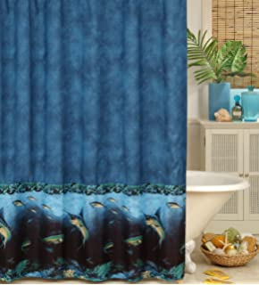 Curtains Ideas coral reef shower curtain : Amazon.com - Coral Reef Shower Curtain - Sea Life Shower Curtain