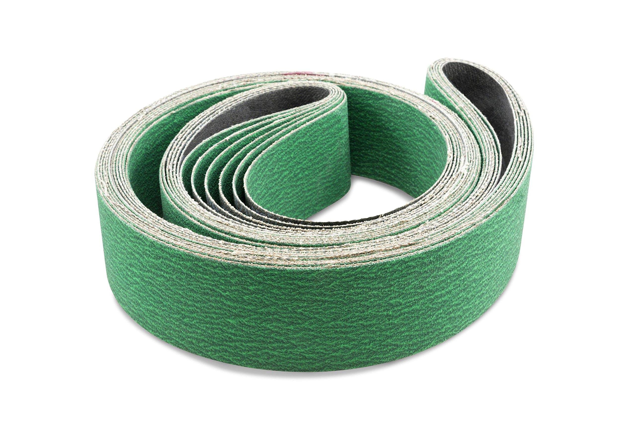 2 X 72 Inch 24 Grit Metal Grinding Zirconia Sanding Belts, 6 Pack