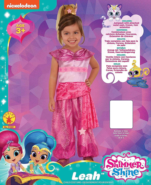 Rubies 510301XS Shimmer and Shine Leah Genie - Disfraz infantil para niña, talla XS: Amazon.es: Juguetes y juegos