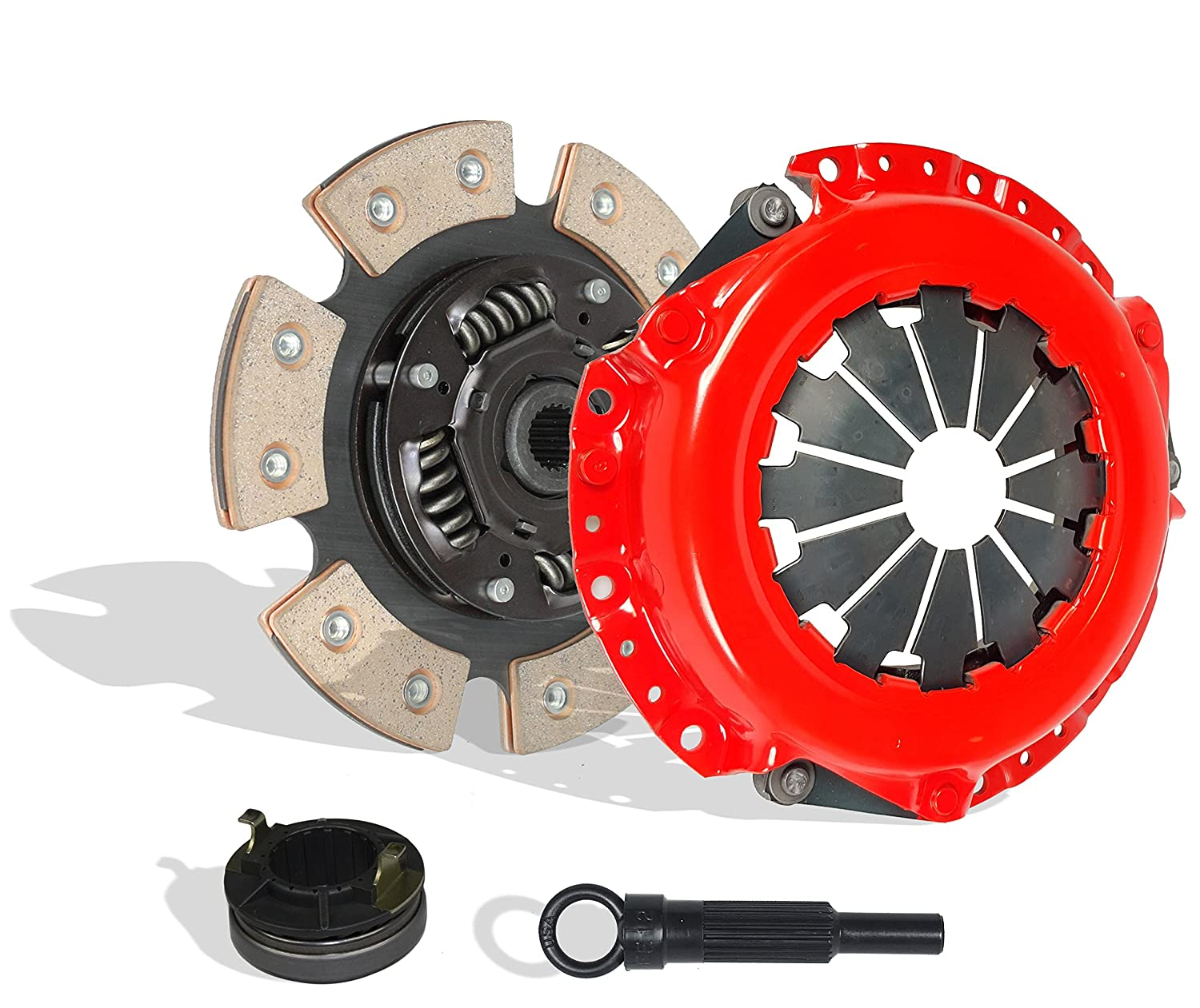 Clutch Kit Set Works With Hyundai Accent Gl Gls Gt SE Gs Base Sedan Hatchback 2001-2008 1.6L 1600CC l4 GAS DOHC Naturally Aspirated (6-Puck Disc Stage 2)