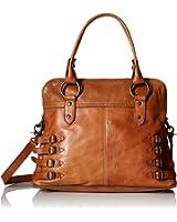 FRYE Selena Belted Zip Satchel Bag