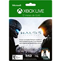Membresía 12 meses Xbox Live Gold Halo 5 + Tarjeta Metálica + DLC - Special Limited Edition
