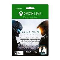 Membresía 12 meses Xbox Live Gold Halo 5 + Tarjeta Metálica + DLC - Special Limited Edition