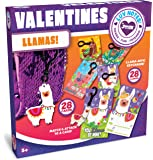 JOYIN 28 Pack Valentines Day Gifts Cards for Kids with Llama Key Chain for Valentine's Classroom Exchange Cards and…