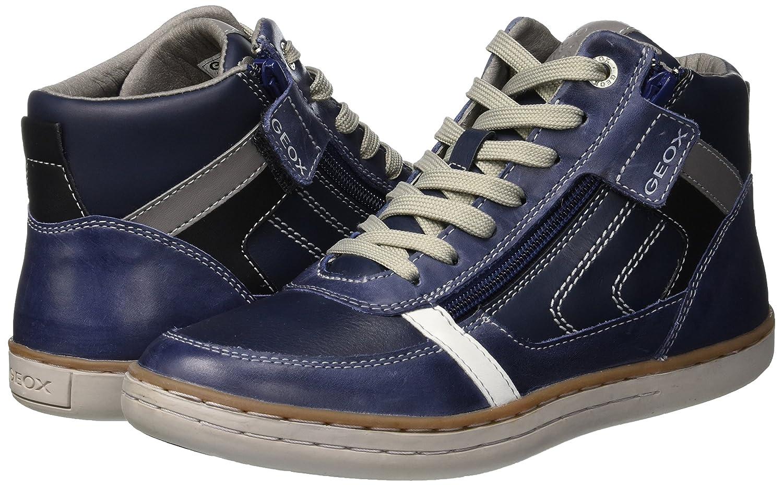 Geox Boys Jr Garcia B Hi-Top Trainers Cognac//Blau
