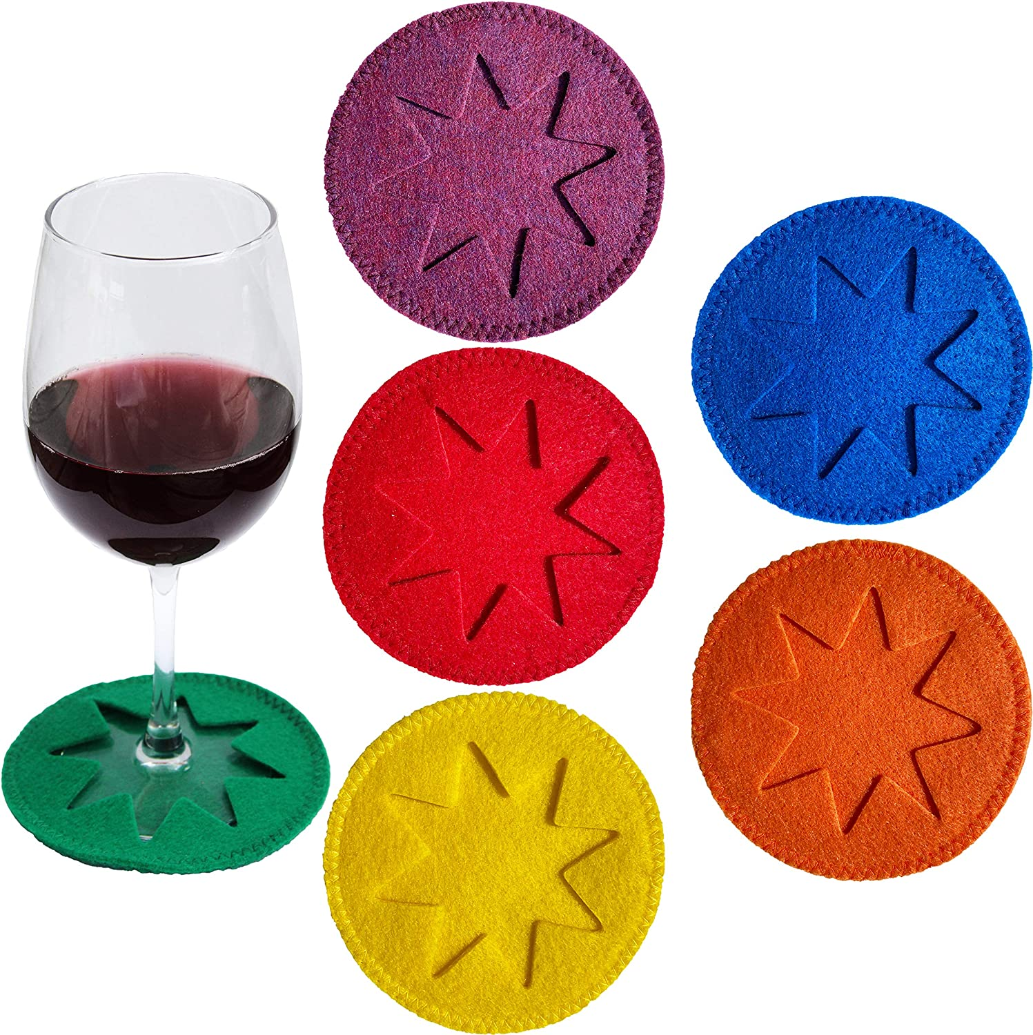 Drinks Mug Cup Mats HAND MADE In The UK Decor Home Dining Set of 6 Autumn Wine Leather Coasters