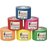BB Sport - Set de 6 rollos de cinta kinesiológica (5 m x 5 cm, 11 colores disponibles)