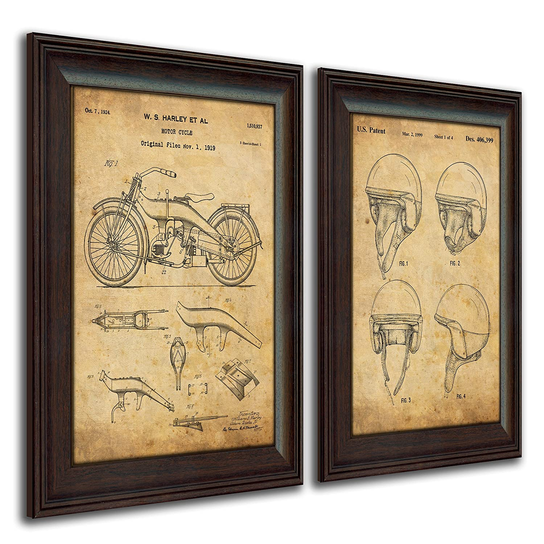 Amazon.com: Original Harley Davidson Motorcycle Patent Art Poster ...