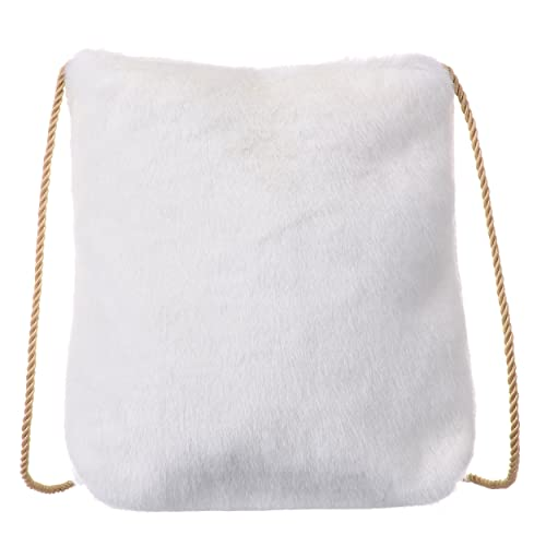 QZUnique Women s Spring Soft Faux Fur Shoulder Bag Plush Cossbody Tote  Handbag d74d272498fe1