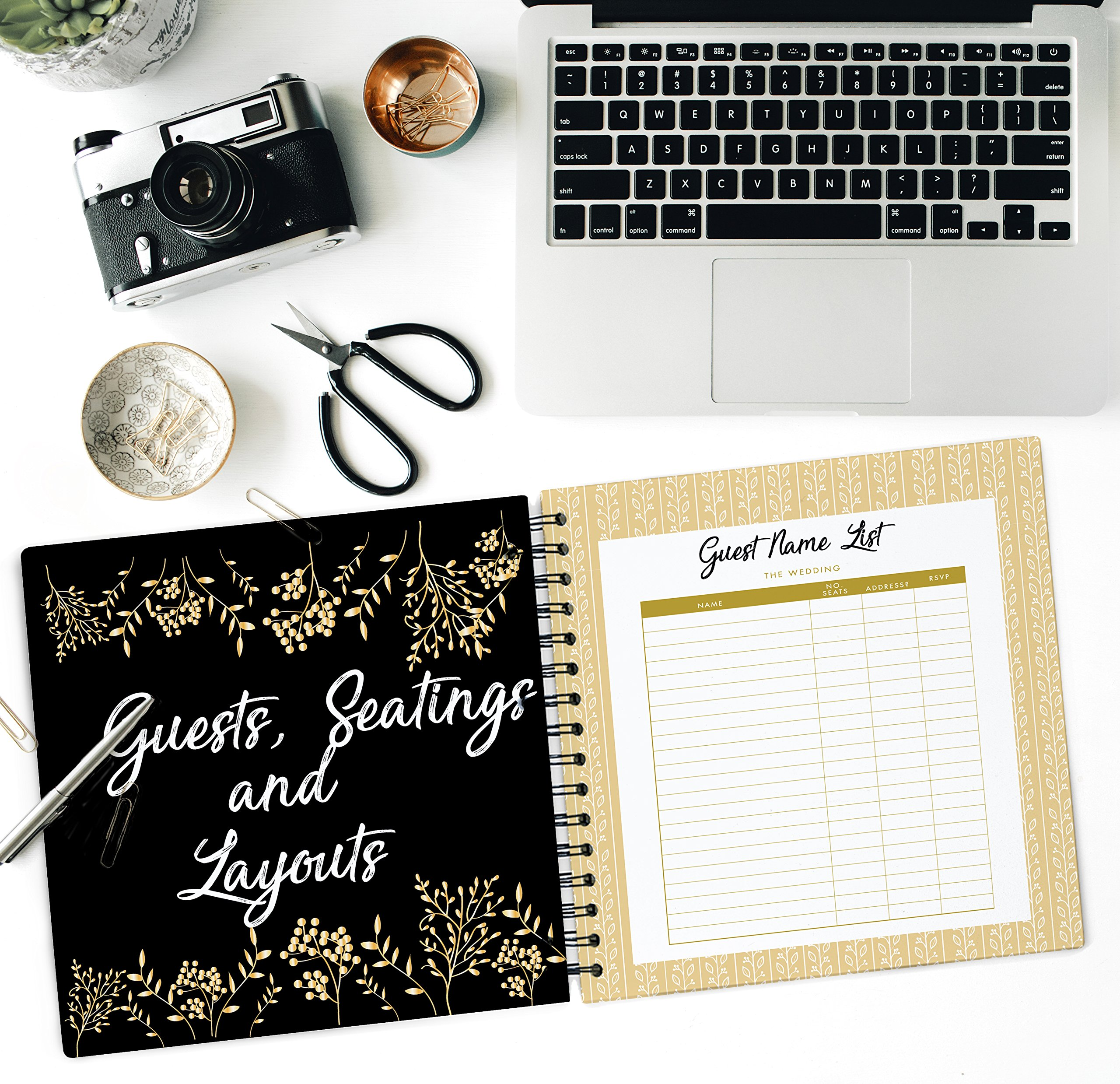 The Ultimate Wedding Planner – A Complete 80 Pages Hardcover Organizer that Includes Checklists, Party Planner, Budget Organizer, Honeymoon and More to Help You Organize The Wedding of Your Dreams! by Unconditional Rosie (Image #5)