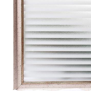 Incroyable CottonColors Film Adhésif Décoratif Rayure Pour Fenêtre Vitrage Statique  Autocollant Film Occultant Givré Transparent Dépoli Antiregards