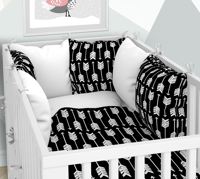 Coffret 3pièces: Parure de lit de bébé 100x 135cm Avec Drap Housse et taies d'oreiller Tour de lit–SIX Coussin Velours pour le lit bébé 70x 140cm KLARA BRIST