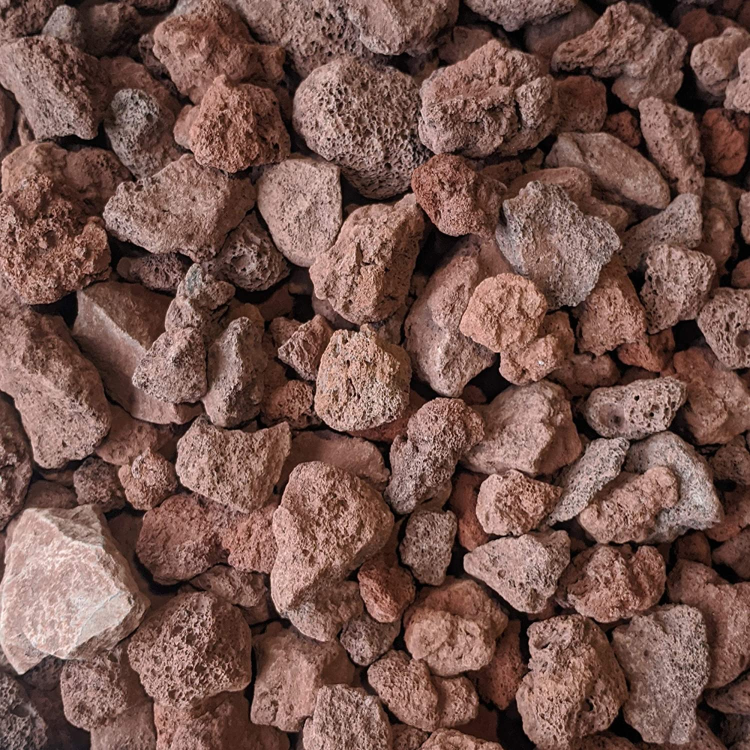 Midwest Hearth Lava Rock for Fire Pits and Gas Log Sets, Red 1/2