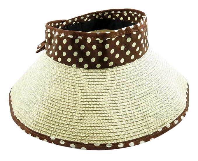 Daiso Women s Roll-up Travel Visor Hat Wide Brim Open Top Sun ... 9acfaf933c8