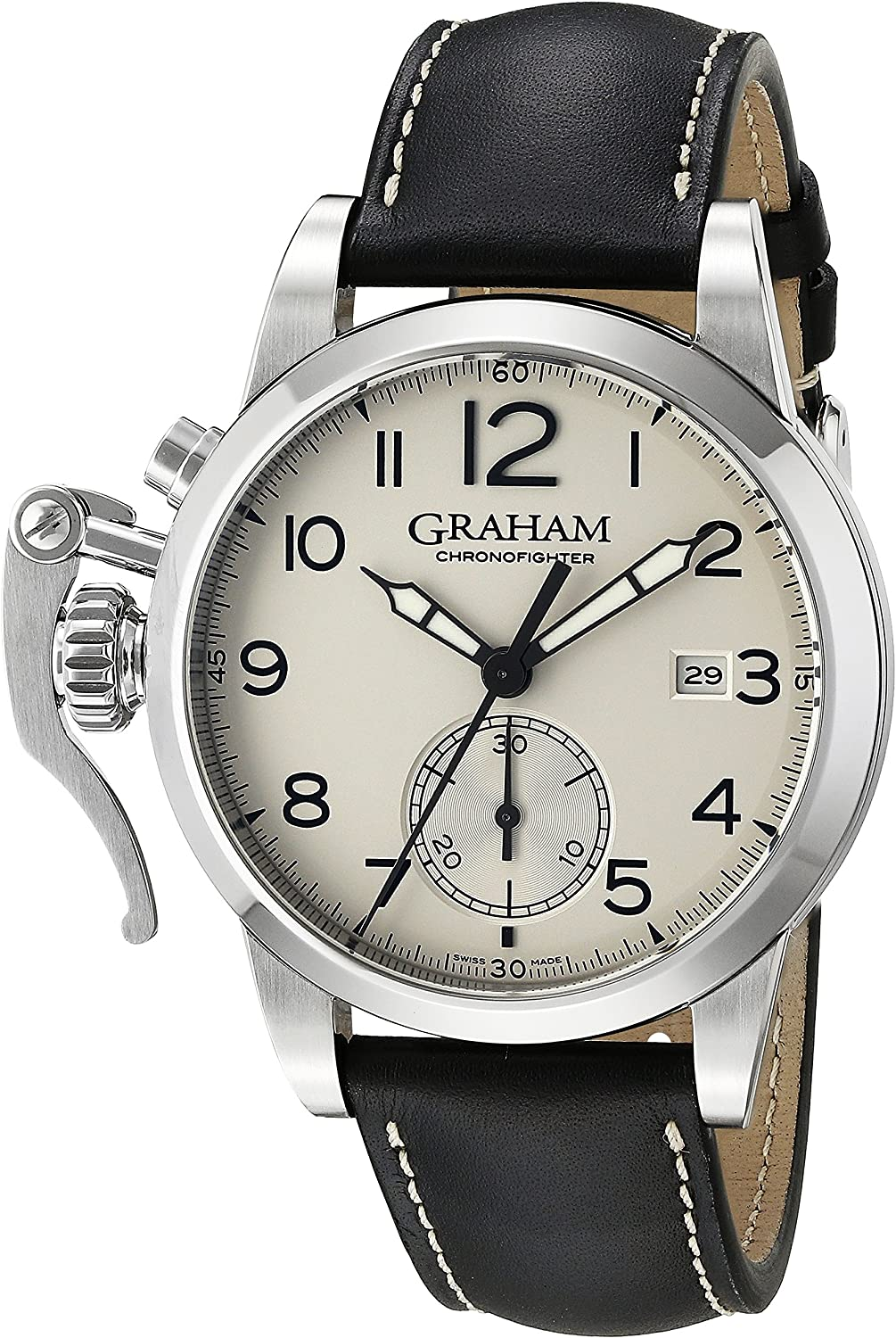 Graham Men s 2CXAS.S01A Analog Display Swiss Automatic Brown Watch