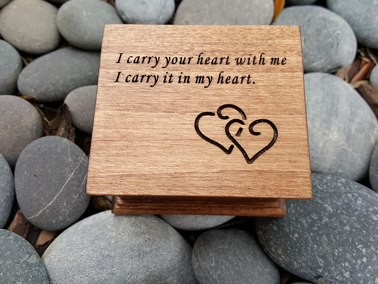 Custom Made Music Box With I Carry Your Heart With Me Engraved On Top Perfect Birthday Gift For Daughter Or Mom Handmade