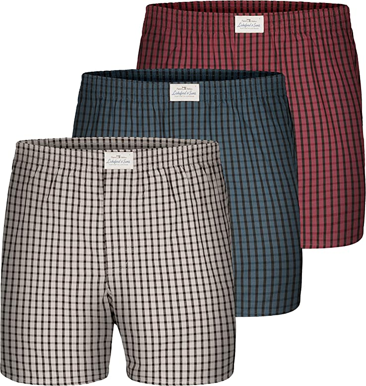 Lakeford & Sons - Bóxers para Hombres - 3-Pack - 100& algodón ...