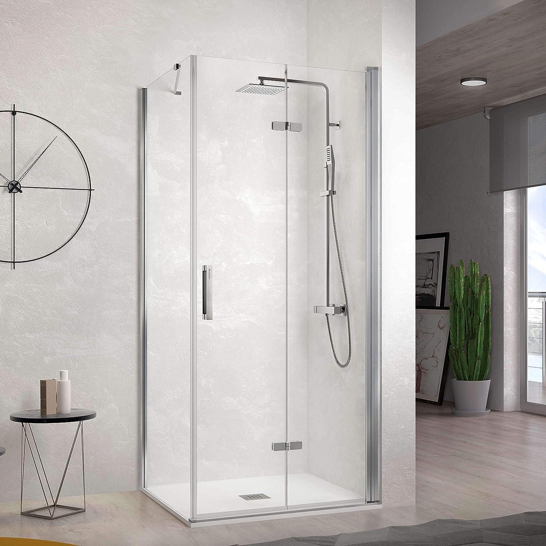 Frente de ducha NARDI, puerta plegable 80-84cm: Amazon.es ...