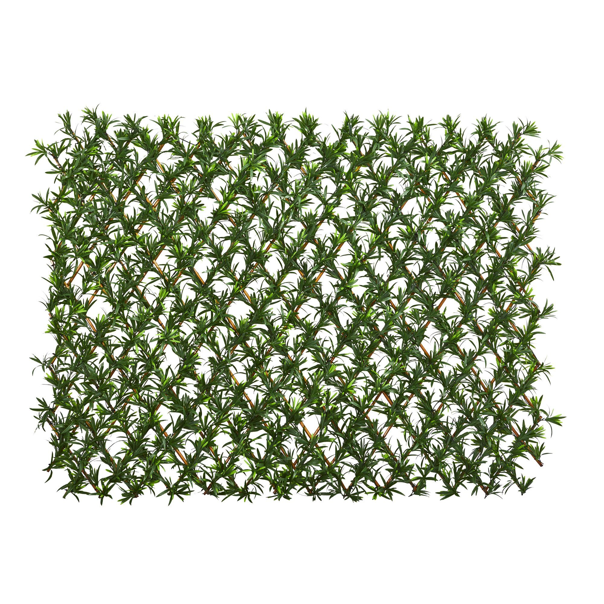 Nearly Natural 4235 Podocarpus Expandable Fence Artificial Plant, Green
