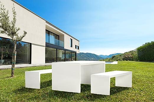 Tavolo Sedie Giardino Cemento.Maillith Tavolo E 2 Panche Gruppo Di Sedie Cemento In Polimero