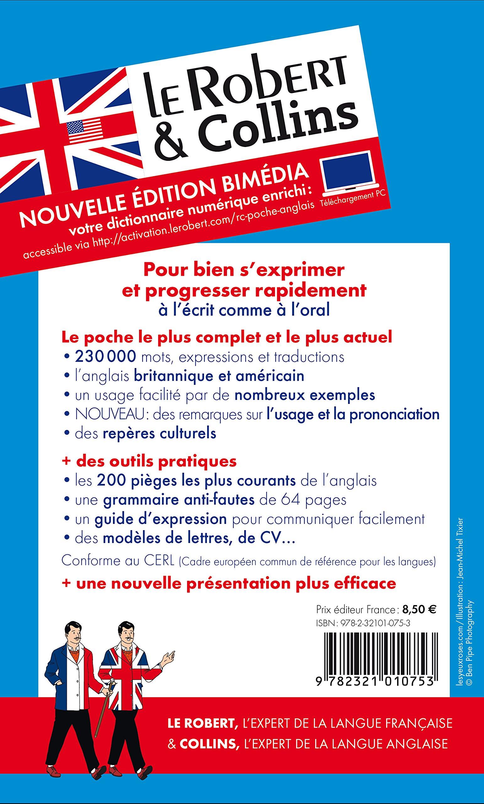Amazon.fr - Dictionnaire Le Robert & Collins Poche anglais et sa version  numérique à télécharger PC - Collectif - Livres