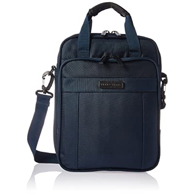 Perry Ellis Keith Case with Handle fits Most Ipads/Tablets/Netbooks Laptop Bag, Navy, One Size