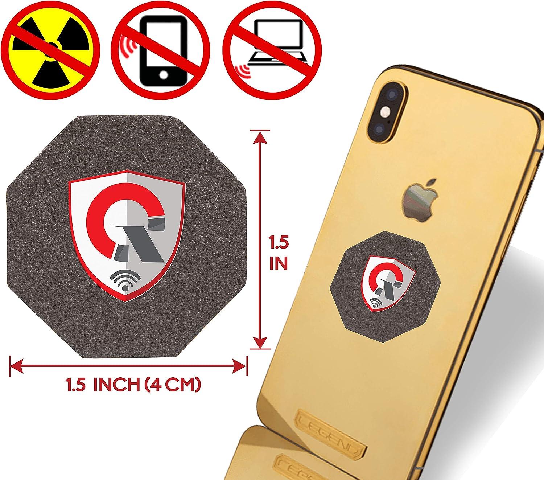 6 Pcs, Oro Escudo Cu/ántico Naomo Parche Anti Radiaci/ón para M/óviles Bloqueador EMF para Todos los Dispositivos Electr/ónicos