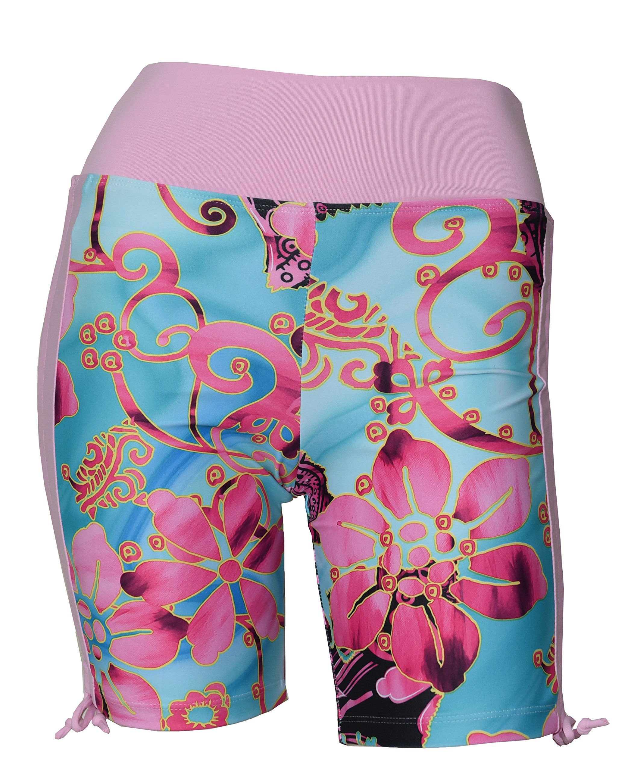 Private Island Women UV Swim Rash Guard Board Shorts Pants Yoga (L, PwSBP) by Private Island