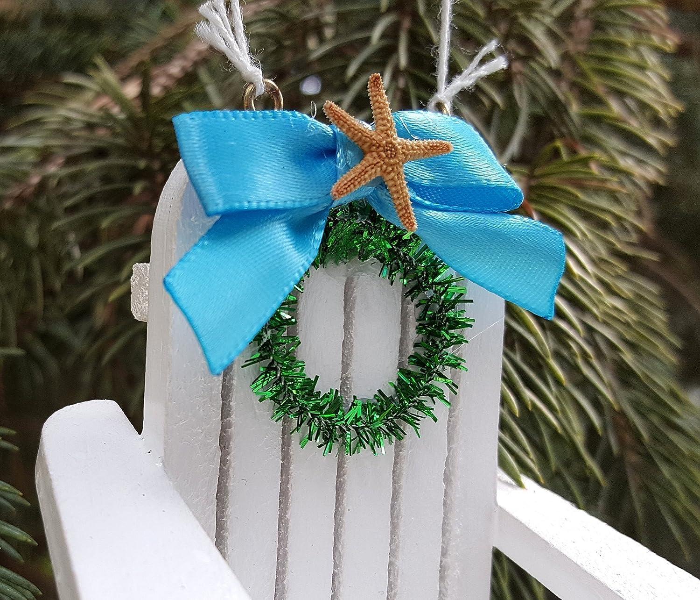 Amazoncom Beach Adirondack Chair Christmas Ornament  Coastal Nautical Beach