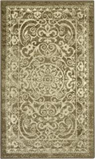 product image for Maples Rugs Pelham Vintage Kitchen Rugs Non Skid Accent Area Carpet [Made in USA], 2'6 x 3'10, Khaki, Model:AG4055401